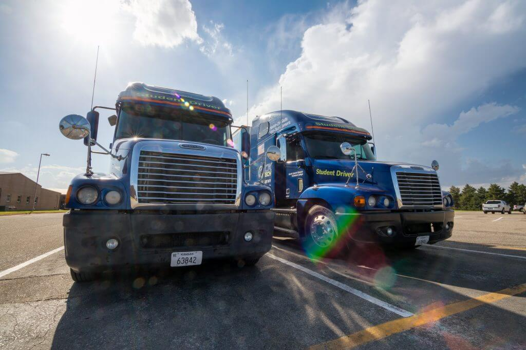 Student Driver Semi Trucks for CDL License Training.