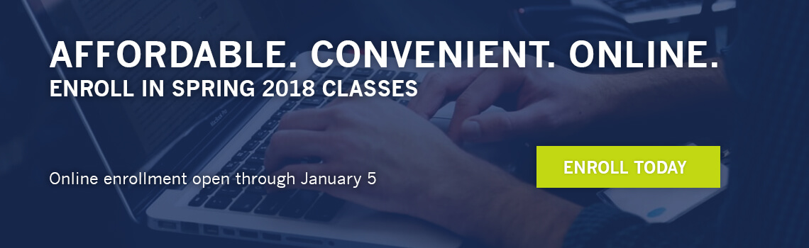 2018 Spring Online Classes Available