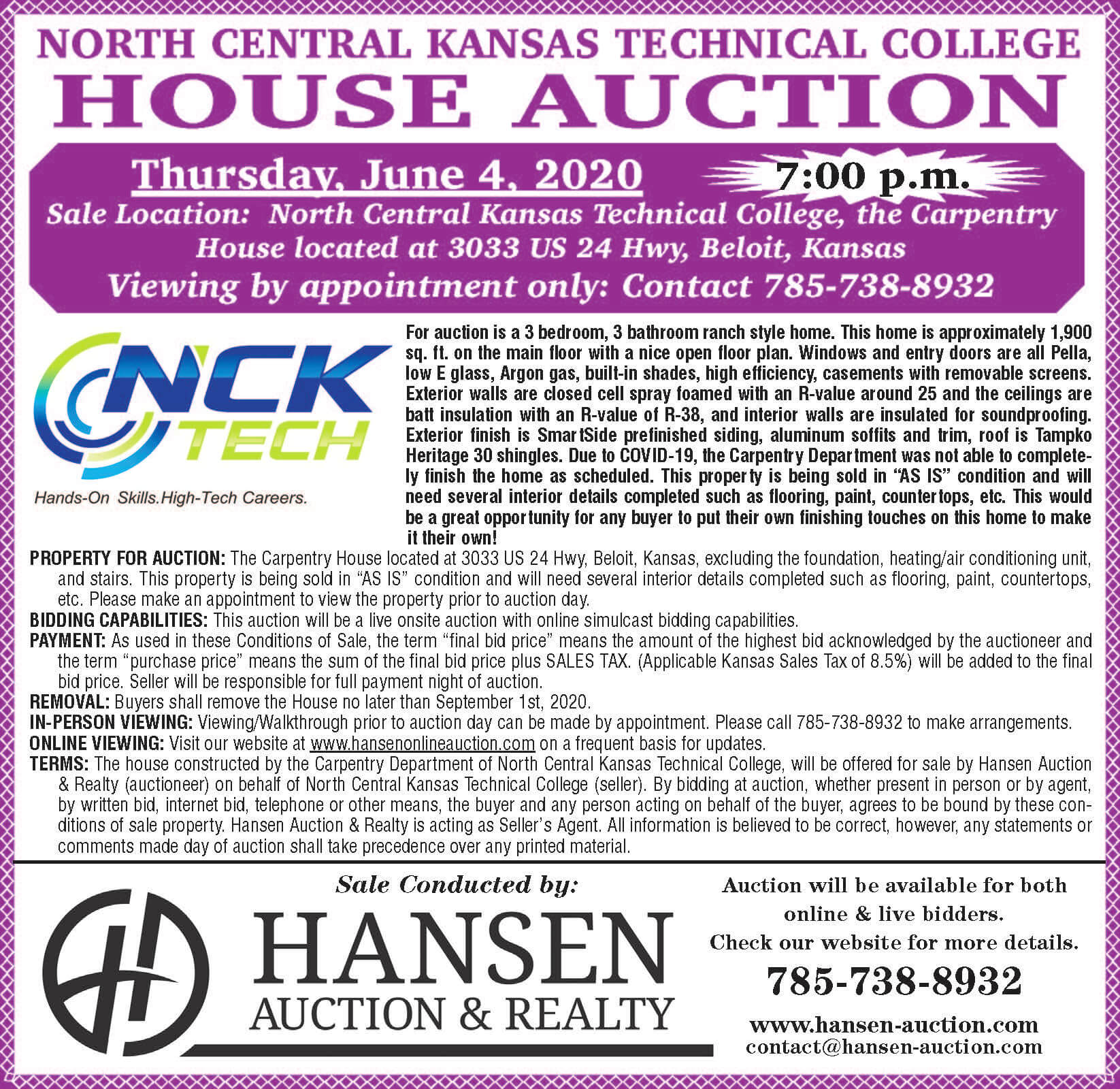 Carpentry House Auction-Beloit Campus