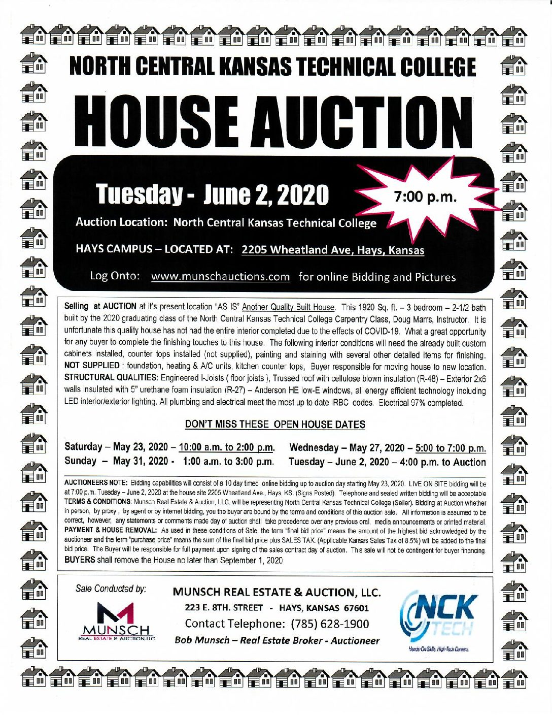 Carpentry House Auction-Hays Campus